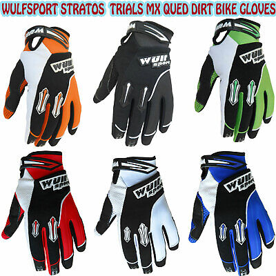 Wulfsport Stratos Adults Off Road Motocross Trials Mx Qued Dirt Bike Gloves