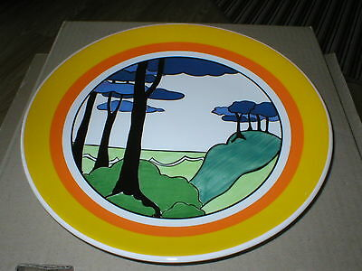 WEDGWOOD CLARICE  CLIFF 10.1/4in PLATE / CHARGER BLUE FIRS DESIGN  LTD BOXED