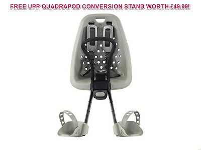 Yepp Mini Silver Front Mount Bike Child Seat For Ahead Stem Cycles 45% Off+Stand