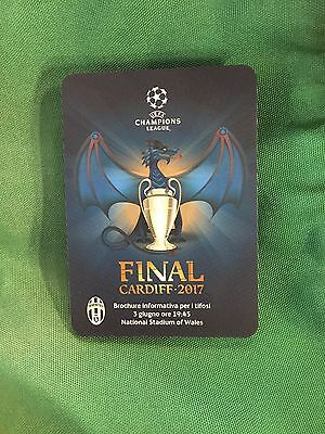 Fan Map Uffcial Juventus - Real Madrid  Ucl Final 2017 Uefa Champions League T1