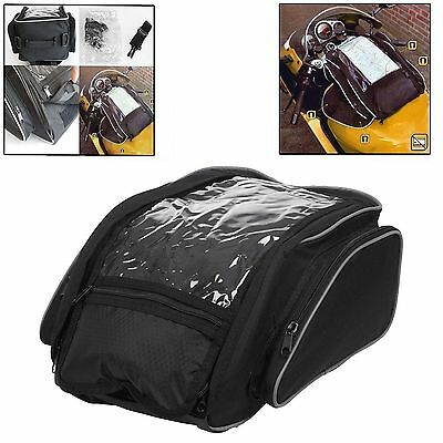 Motorcycle Magnetic Tank Bag Motorbike Bag with Map Window Large Luggage 21L new
