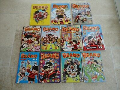 BEANO ANNUALS 8 In total at £3 each, price set at 3 for £9 plus £3.50 p&p in UK