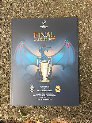 Program Uffcial Juventus - Real Madrid  Ucl Final 2017 Uefa Champions League