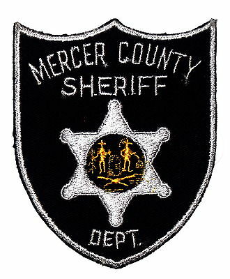 MERCER COUNTY WEST VIRGINIA WV Police Sheriff Patch STATE SEAL VINTAGE OLD MESH
