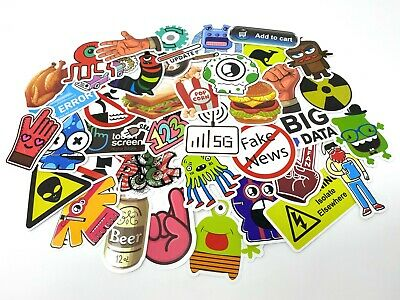 STICKER BOMB PACK x100 PCS EURO DUB VW DRIFT SHOWCAR SKATEBOARDING 100 STICKERS