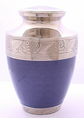 Adult Cremation Urn for Ashes, Large Funeral Memorial Purple ashes container Urn