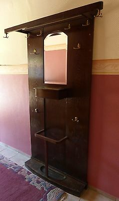 alte garderobe hutablage spiegel antik jugendstil. Black Bedroom Furniture Sets. Home Design Ideas