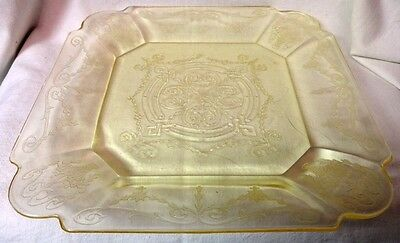 "Lorain Yellow Dinner Plate 10.25"" Set of 2 Indiana Glass Company"