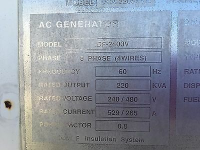 2005 MQ220 Generator with 6150 hours in great condition