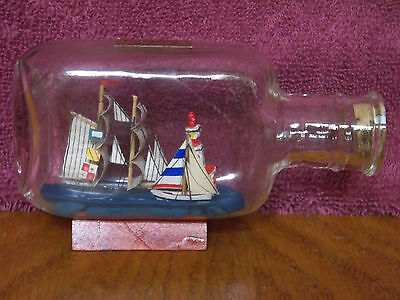 Catalina Island Vintage Ships & Lighthouse In A Bottle California Souvenir