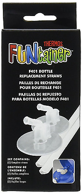 Thermos Replacement Straws for 12 Ounce Funtainer Bottle, Clear