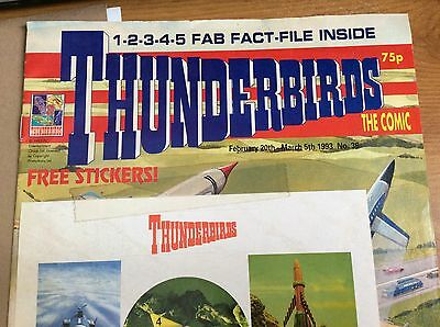 5.4.3.2.1.Thunderbirds Are Go!1993 Thunderbirds The Comic #36 with stickers