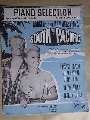 Vintage Sheet Music South Pacific Piano Selection