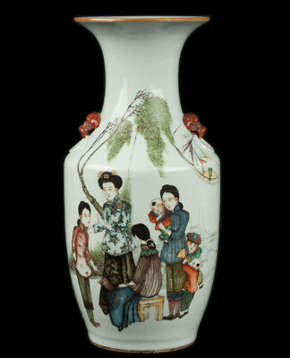 China 19. Jh. A Club-Shaped Chinese Porcelain Vase - Vaso Cinese Chinois Qing