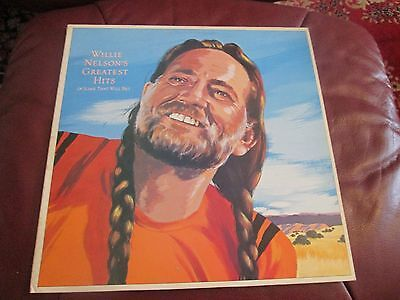 willie nelson greatest hits record vinyl double  2 record set ex ex.cbs records