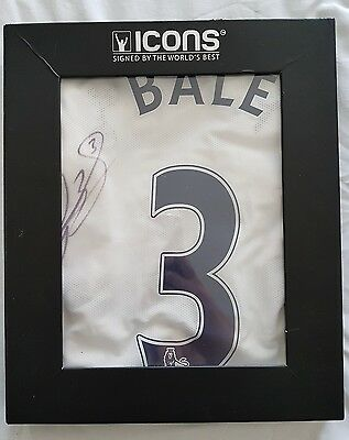 Genuine hand signed Gareth Bale Tottenham shirt from Icons in presentation box