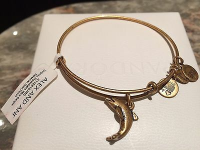 Alex and Ani gold coloured Dolphin Charm Bracelet. New Tagged