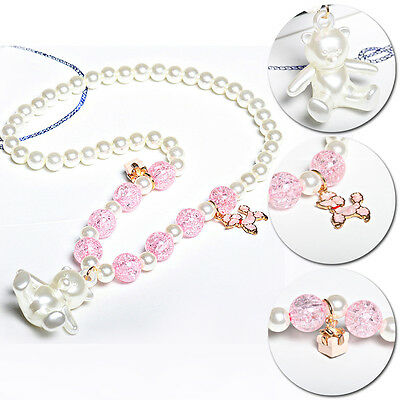 Lovely New Beautiful Kids Jewelry Children Bear Pendant Party Necklace Girls Hot