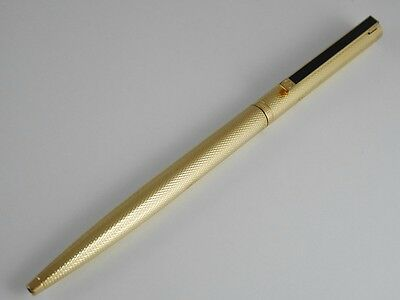 dunhill Gemline Gold Plated Barley Black Clip Ballpoint Pen (used)