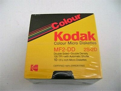 Nos Kodak Colour Micro Diskettes Mf2-Dd  2S-2D 3 1/2 Inch 5 X Sealed 1 X Open