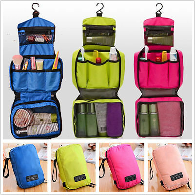 Luxury Lady Travel Cosmetic Bag Makeup Case Pouch Toiletry Zip Wash Organizer UK