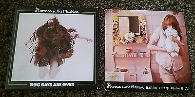 "Florence and the Machine Rabbit Heart Dog Days are over 7"" Inch Vinyl Records"