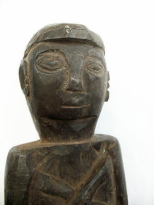 COMMEMORATIVE ROSEWOOD STATUETTE TIMOR TRIBAL ARTIFACT mid to late 20thC