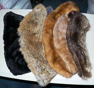 Vintage Fur Collar Lot of 5 Assorted  Suitable for Coats, Jackets, or Crafts