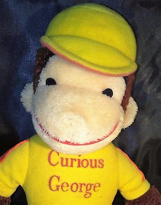 Vintage Curious George Plus Monkey Stuffed Toy Figure Yellow Hat & Shirt Classic