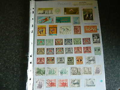 Danzig&poland..a Good Selection Of Stamps On 4..a4 Pages