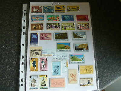 Pitcairn Islands..a Nice Selectionn Of Stamps On 3Plus..a4 Pages
