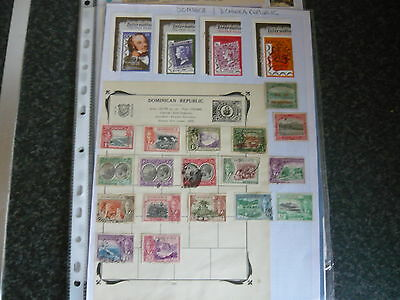 Dominica & Dominica Republic Stamps On 3 Pages