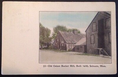 MA Scituate- Old Oaken Bucket Mill- Exterior Color View- Undiv Damon Pub PC V1