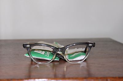 Liberty USA Vintage Retro Cat-Eye Eyeglass Frame Plastic Gunsmoke 1960s