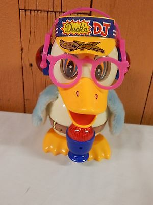 vintage 1989 DUCK'N DJ by SON AI lighted dancing battery toy duck