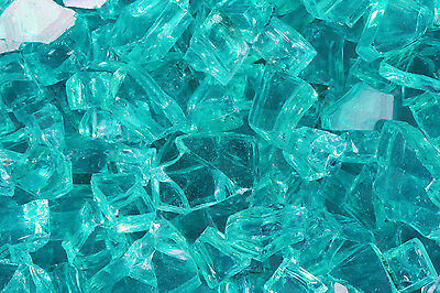 "10 Lb 1/4"" CARIBBEAN (AZURIA) FireGlass Fireplace, Fire Pit Glass Rocks Crystals"