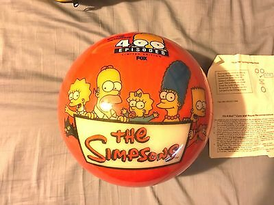 Simpsons 400th episode bowling ball and bag. Brunswick vis-a-ball Ultra rare!!