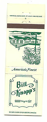Matchbook Cover Bill Knapp's Restaurant Good Things to Eat America's Finest