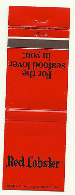 Matchbook Cover Red Lobster Restaurant Ontario Canada