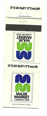 Matchbook Cover Majik Market Munford Store So Fast It's Majik