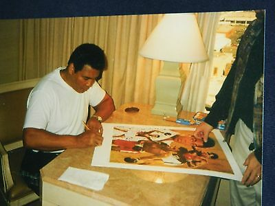 Muhammad Ali Autographed Litho Signed Framed Danny Day Limited Edition Steiner
