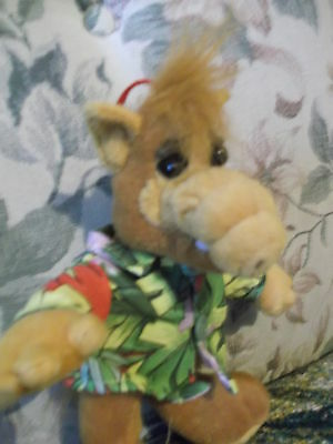 "9"" Plush ALF tv character doll 2002 Nanco wears Hawaiian Shirt - gently used"