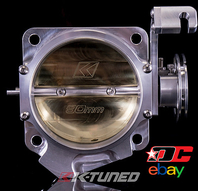 K-Tuned 90mm Billet Throttle Body, Mustang Flange, Honda K Series TPS Fitment