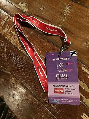 Lanyard + Pass Juventus - Real Madrid Final 2017 Uefa Champions League