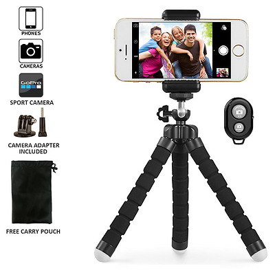 Phone tripod, UBeesize Portable and Adjustable Camera Stand Holder with Bluetoot