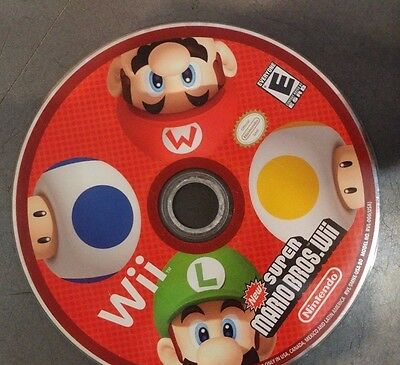New Super Mario Bros. Wii (Nintendo Wii, 2009) DISC ONLY