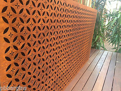 Metal laser cut rust Art Arabic feature wall panel steel FREE DELIVERY MELB !!