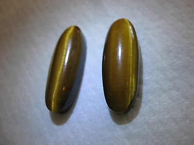 #23 Matched Pair of Tiger's Eye cabochons