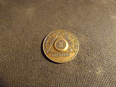2nd Year To Thine Own Self Be True Recovery Brass Token One Day At A Time 117-M