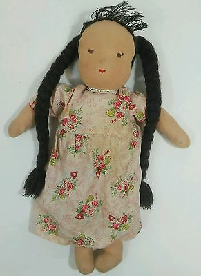 "Very adorable and classic Vintage Kathe Kruse 15"" Waldorf Doll made in Germany"